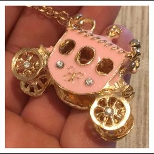 Jewelry - Fairy Tale Carriage Pendent Gold Chain Necklace